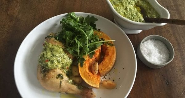 Blog Cinnamon Roasted Chicken With Chimmichurri And Roasted Pumpkin
